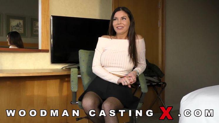 Brunette Casting Anal Woodman