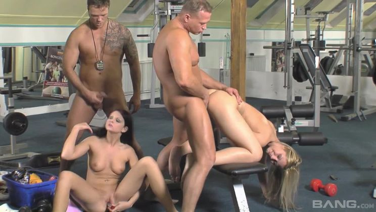 Cindy White and Jasmine Luna Gold get in some extra cardio at the gym